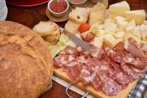 Cheese and Proscuitto and fresh bread